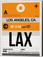 LAX Los Angeles Luggage Tag 2 Fine-Art Print