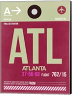 ATL Atlanta Luggage Tag 2 Fine-Art Print