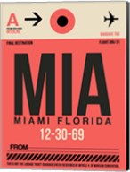 MIA Miami Luggage Tag 1 Fine-Art Print