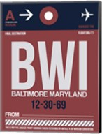 BWI Baltimore Luggage Tag 2 Fine-Art Print