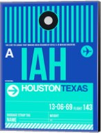 IAH Houston Luggage Tag 2 Fine-Art Print