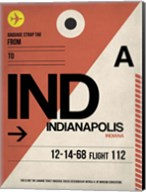 IND Indianapolis Luggage Tag 1 Fine-Art Print
