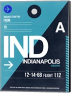 IND Indianapolis Luggage Tag 2 Fine-Art Print