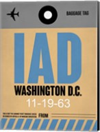IAD Washington Luggage Tag 1 Fine-Art Print