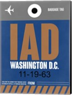 IAD Washington Luggage Tag 2 Fine-Art Print