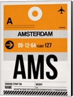 AMS Amsterdam Luggage Tag 2 Fine-Art Print