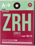 ZRH Zurich Luggage Tag 2 Fine-Art Print