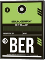 BER Berlin Luggage Tag 2 Fine-Art Print