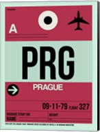 PRG Prague Luggage Tag 2 Fine-Art Print