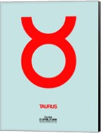 Taurus Zodiac Sign Red Fine-Art Print