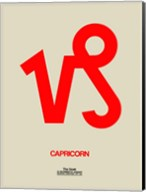 Capricorn Zodiac Sign Red Fine-Art Print