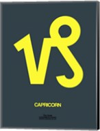Capricorn Zodiac Sign Yellow Fine-Art Print