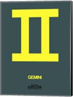 Gemini Zodiac Sign Yellow Fine-Art Print