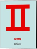 Gemini Zodiac Sign Red Fine-Art Print