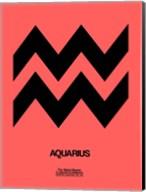 Aquarius Zodiac Sign Black Fine-Art Print