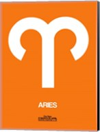 Aries Zodiac Sign White on Orange Fine-Art Print