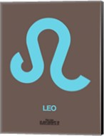 Leo Zodiac Sign Blue Fine-Art Print