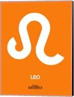 Leo Zodiac Sign White on Orange Fine-Art Print