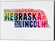 Nebraska Watercolor Word Cloud Fine-Art Print