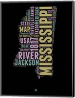 Mississippi Word Cloud 1 Fine-Art Print