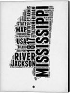 Mississippi Word Cloud 2 Fine-Art Print