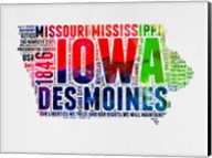 Iowa Watercolor Word Cloud Fine-Art Print