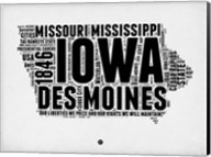 Iowa Word Cloud 2 Fine-Art Print