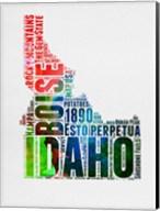 Idaho Watercolor Word Cloud Fine-Art Print