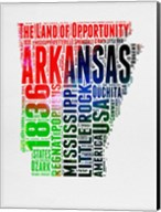 Arkansas Watercolor Word Cloud Fine-Art Print