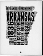 Arkansas Word Cloud 2 Fine-Art Print