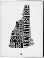 New Hampshire Word Cloud 2 Fine-Art Print