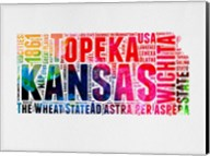 Kansas Watercolor Word Cloud Fine-Art Print