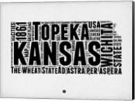 Kansas Word Cloud 2 Fine-Art Print