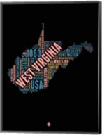 West Virginia Word Cloud 1 Fine-Art Print