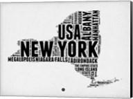 New York Word Cloud 2 Fine-Art Print
