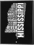 Mississippi Black and White Map Fine-Art Print