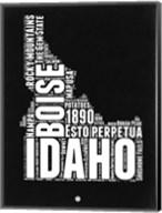 Idaho Black and White Map Fine-Art Print