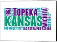 Kansas Word Cloud Map Fine-Art Print