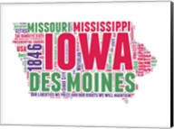 Iowa Word Cloud Map Fine-Art Print