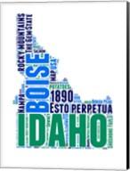Idaho Word Cloud Map Fine-Art Print
