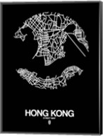 Hong Kong Street Map Black Fine-Art Print