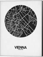 Vienna Street Map Black on White Fine-Art Print