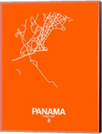 Panama Street Map Orange Fine-Art Print