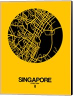 Singapore Street Map Yellow Fine-Art Print