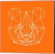Panda on Orange Fine-Art Print