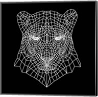 Panther Head Black Mesh Fine-Art Print