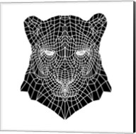 Panther Head Mesh Fine-Art Print