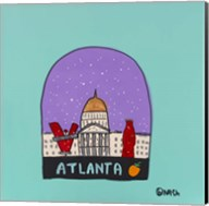 Atlanta Snow Globe Fine-Art Print