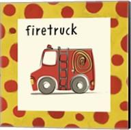 Firetruck with Border Fine-Art Print