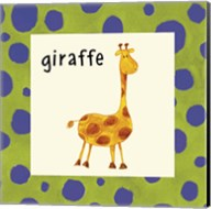 Giraffe with Border Fine-Art Print